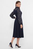 черное платье с цветами. Платье Алтея д/р. Цвет: синий цена