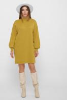 горчичное платье из ангоры. платье Талита д/р. Цвет: горчица цена