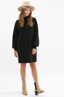 горчичное платье из ангоры. платье Талита д/р. Цвет: черный в интернет-магазине