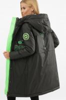 . Куртка 297. Цвет: 01-черный-зеленый цена