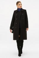 . Пальто П-412-100. Цвет: 161-черный в интернет-магазине