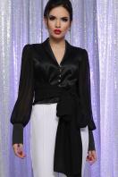 белая блузка с бантом. блуза Аврил д/р. Цвет: черный купить