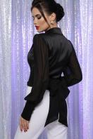 белая блузка с бантом. блуза Аврил д/р. Цвет: черный в интернет-магазине