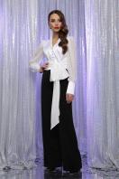 белая блузка с бантом. блуза Аврил д/р. Цвет: белый купить