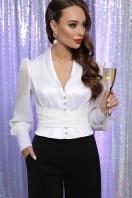 белая блузка с бантом. блуза Аврил д/р. Цвет: белый цена