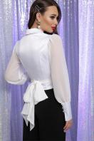 белая блузка с бантом. блуза Аврил д/р. Цвет: белый в интернет-магазине