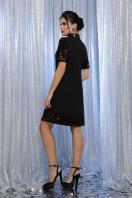 платье трапеция с пайетками. платье Бетти к/р. Цвет: черный-бронза в интернет-магазине