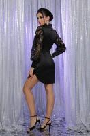 красное атласное платье. платье Киприда д/р. Цвет: черный в интернет-магазине