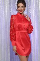 красное атласное платье. платье Киприда д/р. Цвет: красный купить