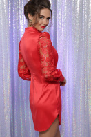 красное атласное платье. платье Киприда д/р. Цвет: красный в интернет-магазине