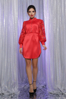 красное атласное платье. платье Киприда д/р. Цвет: красный недорого