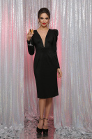 черное платье с глубоким вырезом. платье Солли д/р. Цвет: черный цена
