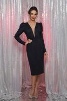 черное платье с глубоким вырезом. платье Солли д/р. Цвет: синий купить