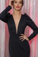 черное платье с глубоким вырезом. платье Солли д/р. Цвет: синий в интернет-магазине