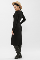 . Платье Альвия д/р. Цвет: черный в интернет-магазине