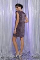 лиловое платье с пайетками. платье Авелина б/р. Цвет: т. лиловый-лиловый в интернет-магазине