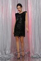 лиловое платье с пайетками. платье Авелина б/р. Цвет: черный-черный купить