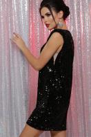 лиловое платье с пайетками. платье Авелина б/р. Цвет: черный-черный цена