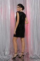 лиловое платье с пайетками. платье Авелина б/р. Цвет: черный-черный в интернет-магазине