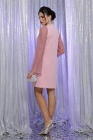 розовое платье с широкими рукавами. Платье Вилма д/р. Цвет: св.лиловый в интернет-магазине