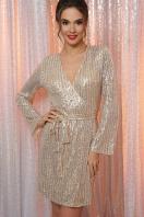 платье на новый год с пайетками. Платье Земфира д/р. Цвет: золото-серебро цена