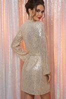 золотистое платье с запахом. Платье Земфира д/р. Цвет: золото-серебро в интернет-магазине