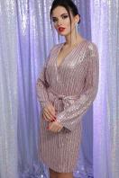 золотистое платье с запахом. Платье Земфира д/р. Цвет: пудра-серебро цена
