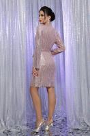 платье на новый год с пайетками. Платье Земфира д/р. Цвет: пудра-серебро в интернет-магазине