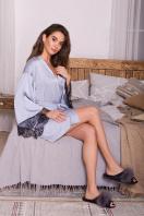 . Халат Торал д/р. Цвет: серо-голубой в интернет-магазине
