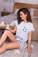 короткая пижама с шортами. Пижама Лиэль. Цвет: голубой-Микки Маус в интернет-магазине