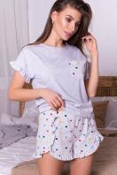 короткая пижама с шортами. Пижама Лиэль. Цвет: серый-разн. сердца купить