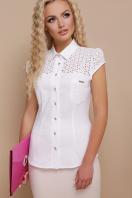 белая летняя блузка с коротким рукавом. блуза Фауста к/р. Цвет: белый купить