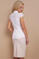 белая летняя блузка с коротким рукавом. блуза Фауста к/р. Цвет: белый цена