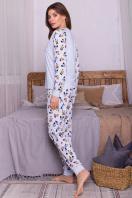 пижама с брюками для сна. Пижама Амаль. Цвет: голубой-Микки Маус цена