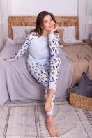пижама с брюками для сна. Пижама Амаль. Цвет: голубой-Микки Маус в Украине