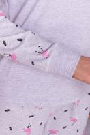 пижама с брюками для сна. Пижама Амаль. Цвет: серый-фламинго в интернет-магазине