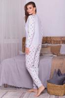 пижама с брюками для сна. Пижама Амаль. Цвет: серый-разн. сердца купить