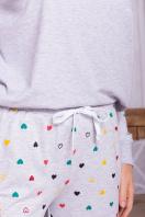 пижама с брюками для сна. Пижама Амаль. Цвет: серый-разн. сердца в интернет-магазине