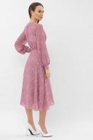 нежное платье на запах. Платье Алеста д/р. Цвет: лиловый-белый цветок в интернет-магазине