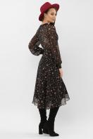 нежное платье на запах. Платье Алеста д/р. Цвет: черный-розовый цветок в интернет-магазине