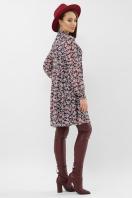 черное платье из шифона. платье Мара д/р. Цвет: синий-букет роз цена