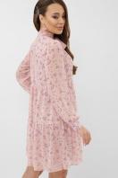 черное платье из шифона. платье Мара д/р. Цвет: пудра-сиреневый цветок в интернет-магазине