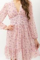 бежевое платье с цветами. Платье Бернарда д/р. Цвет: пудра-сиреневый цветок купить