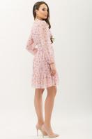 бежевое платье с цветами. Платье Бернарда д/р. Цвет: пудра-сиреневый цветок цена