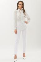 серая блузка в горошек. Блуза Аза д/р. Цвет: белый-черный м. горох купить
