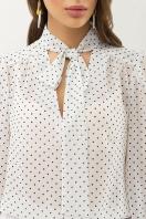 серая блузка в горошек. Блуза Аза д/р. Цвет: белый-черный м. горох цена