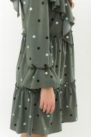 синее платье в горошек. Платье Лесса д/р. Цвет: хаки-горох цветной в интернет-магазине