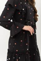 черное платье в горошек. платье Лесса д/р. Цвет: черный-горох цветной в интернет-магазине