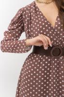 шифоновое платье в горошек. платье Лайса д/р. Цвет: капучино-белый горох в интернет-магазине