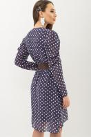 шифоновое платье в горошек. платье Лайса д/р. Цвет: синий - белый горох купить